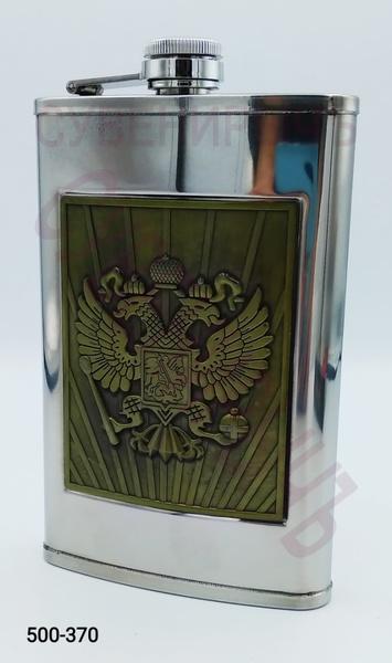 Фляга 10oz Металл бронз Герб России BG-10A