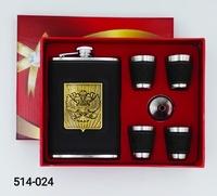 Набор подарочный 5 1 9oz Кожа накл Россия