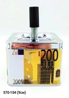 Пепельница вертушка квадр Евро Доллар