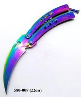 Нож Бабочка Коготь перламутр LK-2