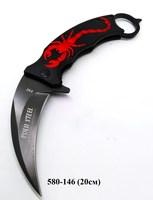 Нож скл Коготь кольцо Скорпион черн F92