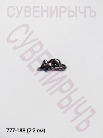 Кошельковый оберег Мышка сред сер V-23-74-3CHE