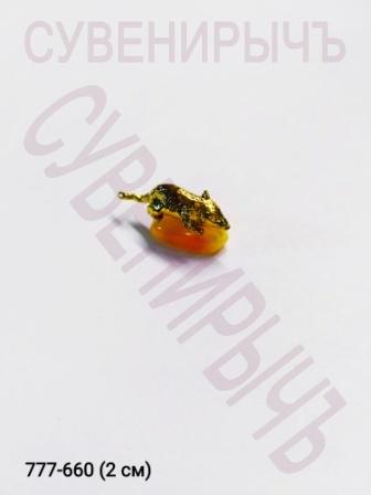 Кош.оберег Мышка на янтаре KMY000012